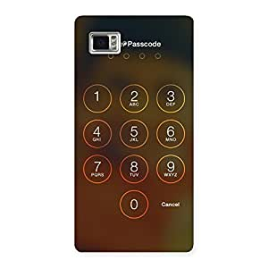 Stylish Passcode Back Case Cover for Vibe Z2 Pro K920