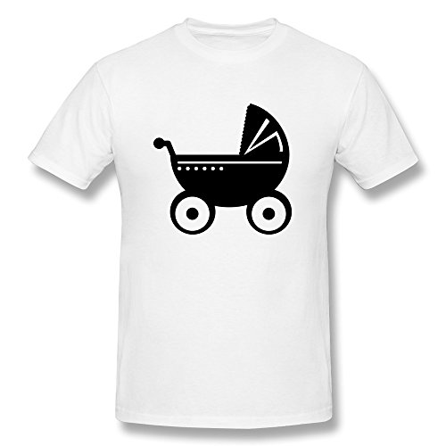 Baby Pram Customize 100% Cotton T Shirt For Men front-332679