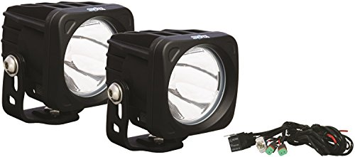Vision X Lighting 9124421 Optimus Black Square 10W Narrow LED Spot Light - Pair
