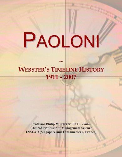 Paoloni: Webster's Timeline History, 1911 - 2007