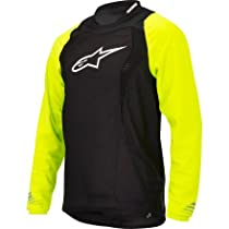 Alpinestars Drop Freeride Enduro Longsleeve Bicycle Jersey, Medium, Black/Yellow Fluo