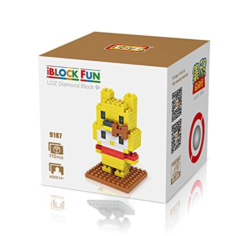 LOZ Diamond Blocks Nanoblock Hello Kitty Featuring Winnie Pooh Educational Toy 110pcs - 1