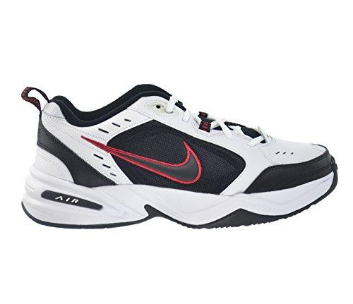 Nike Air Monarch IV Men's Shoes White/Black-Varsity Red 415445-101 (9.5 D(M) US)