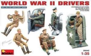 1:35 MINIART WORLD WAR II DRIVERS FIGURES KIT 35042