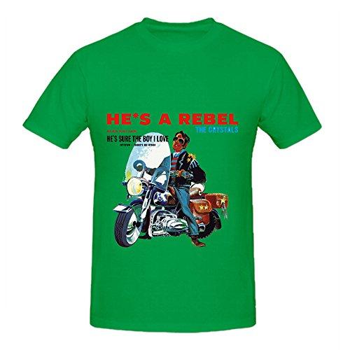 The Crystals Hes A Rebel Soul Mens O Neck Big Tall Tee Shirts Green