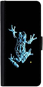 Snoogg Frog On My Phonedesigner Protective Flip Case Cover For Sony Xperia Z