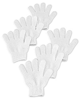 Best Cheap Deal for Exfoliating Bath Shower Gloves, Deep Body Scrub Mitt Removes Dead Skin, Stimulates Circulation, Firms Skin, Reduces Wrinkles, Scars, Cellulite and Stretch Marks. 3 Pairs, By Christina Moss Naturals. from Christina Moss Naturals - Free