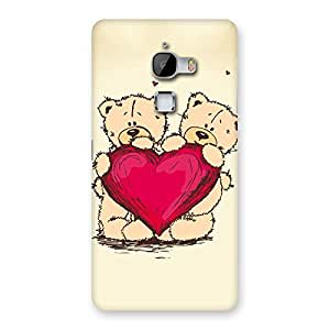 CuteTwin Teddy Heart Back Case Cover for LeTv Le Max