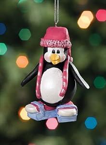 Chillinz Penguin Ice Skating Christmas Ornament #05420