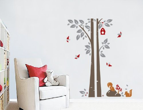 Apexshell (Tm) Fox Under Tree Quote Decor Art Stickers Removable Decorate Decal Home Decor For Home, Living Room, For Bedroom front-624955