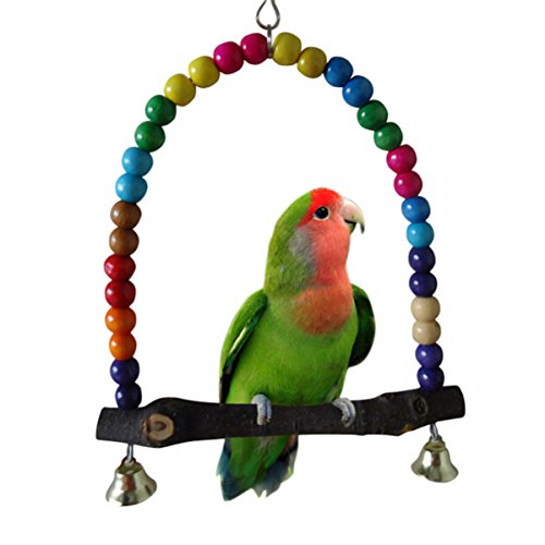 Colorful Bird Toy Parrot Swing Cage Toys for Parakeet Cockat