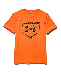 Under Armour Big Boys' UA Baseball Big Logo T-Shirt Youth Medium Blaze Orange