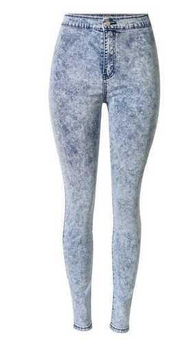 GA&GA Matita pantaloni piedi pantaloni vita alta fiocco di neve/jeans elasticizzato donna Guarda pišŽ sottile , snowflakes , 29= domestic 2xl, foreign xl