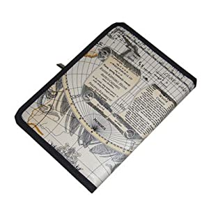 TrendyDigital Folio Case for for Nook Tablet / NOOKcolor Nook Color eBook Reader from Barnes and Noble, Ancient Map