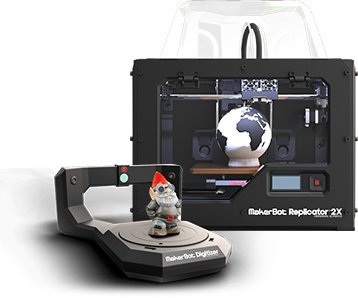 MakerBot Replicator 2X & MakerBot Digitizer