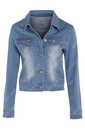 NEW Denim Jacket Women's Jean blazer Size 8 - 14 (UK - 16)