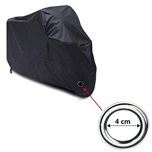 Telo-Coprimoto-Impermeabile-LIHAO-190T-Copri-Scooter-Moto-Antipolveri-Anti-UV-per-Esterni-con-Sacca-per-il-Trasporto-Misura-XL-Colore-Nero