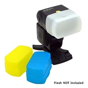 MaximalPower Diffuseur de flash pour Canon 580EX/580EXII Blanc/noir/jaune