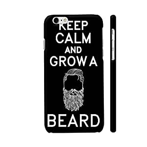 Colorpur Keep Calm And Grow A Beard On Black Designer Mobile Phone Case Back Cover For Apple iPhone 6 / 6s | Artist: Dolly P