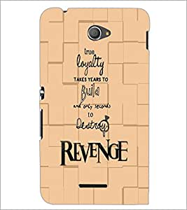 PrintDhaba Quote D-5935 Back Case Cover for SONY XPERIA E4 (Multi-Coloured)
