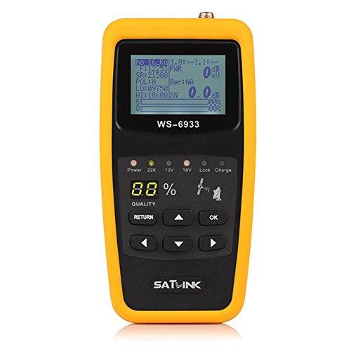 Satlink WS-6933 DVB-S2 FTA C&KU Band Digital Satellite Finder Meter