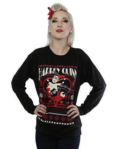 DC Comics Donna Batman Harley Quinn Christmas Felpa Small Nero