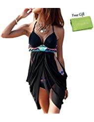 kiwitatá® Womens Halter Neck Bikini Set Push-up Padded Bra Swimsuit Swimwear