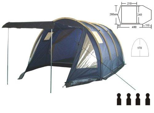 4 pers familienzelt camping zelt tunnelzelt ws 1500mm. Black Bedroom Furniture Sets. Home Design Ideas