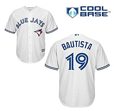 Jose Bautista Toronto Blue Jays #19 MLB Men's Cool Base Home Jersey