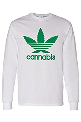 "Men's/Unisex Funny ""Cannabis"" Long Sleeve T-shirt"