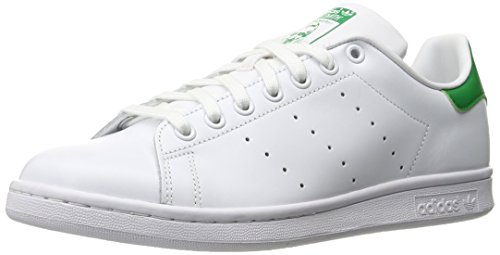 Adidas Men's Originals Stan Smith Sneaker, White/White/Fairway, 9.5 M US