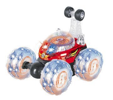 LIB101® Invincible Tornado - Remote Control RC Turbo Twister Stunt Car with Lights and Sound (RED Color)