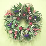19' Larkspur and Loops Wreath