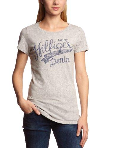 Hilfiger Denim  Women's Lala Cn Tee S/S / 1657617626 T-Shirt Grey (038 Light Grey Htr) 38