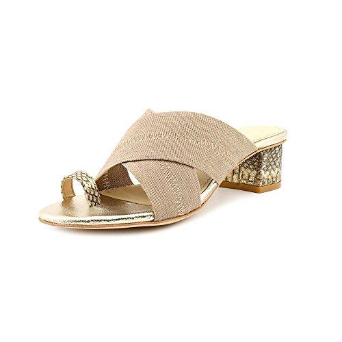 Donald J Pliner Mara Womens Size 5 Nude Textile Dress Sandals Shoes