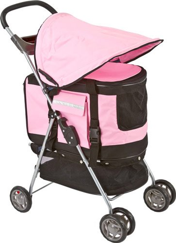 Pink Pet Stroller, Carrier And Car Seat All-In-One front-182123