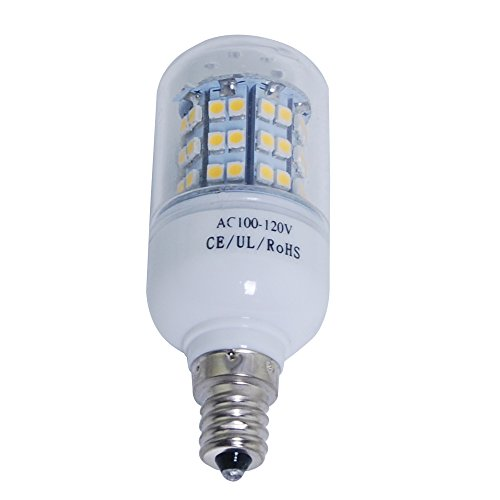 Thg 3000-3500K E12 60 Smd 3528 Led 450Lm Warm White Corn Light Lamp Bulb Equivalent Halogen 50W With Transparent Cover front-336061