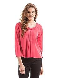 Prym Women's Body Blouse Shirt (1011518102_Bright Pink _X-Large)