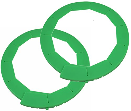 Silicone Pie Crust Shield, Adjustable Pie Protectors, Green (2 Pack)
