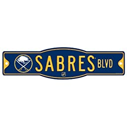 NHL Buffalo Sabres Sign, 4.5 x 17-Inch