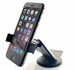 Zilu Car Mount Dashboard and Windshield Phone Holder Car Accessories for iPhone, Samsung, LG, Nexus, HTC, Motorola, Sony and Other Smartphones