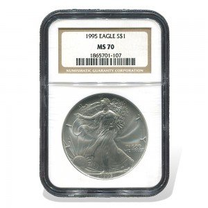 1995 American Eagle $1 MS-70 NGC