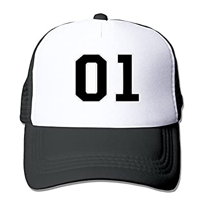 Unisex Hazard Logo Dukes Of Hazzard General Lee Number Snapback Mesh Trucker Cap Black