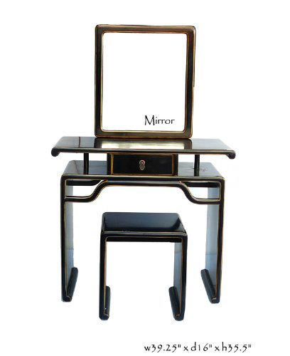Black Makeup Vanity Set