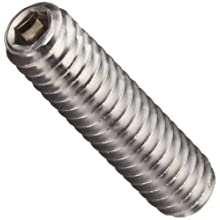 Stainless Steel 18-8 Set Screw, Vented Hex Socket Drive, Cup Point