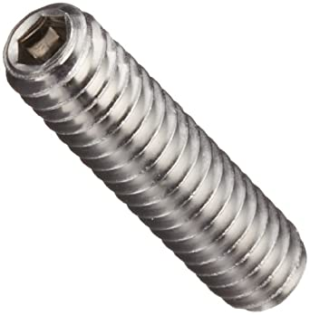 "18-8 Stainless Steel Set Screw, Plain Finish, Vented, Hex Socket Drive, Cup Point, 1/2"" Length, #6-32 Threads (Pack of 10)"