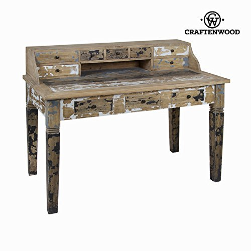 qtimber Bureau en bois décapé - Collection Poetic by Craftenwood 103 x 138 x 78 cm scrittoio, scrivania
