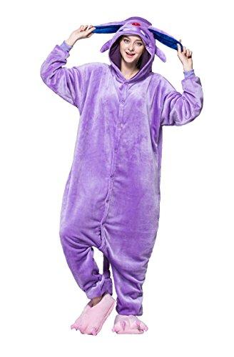 honeystore pyjama tieroutfit tierkost me violett elf schlafanzug tier onesize sleepsuit mit. Black Bedroom Furniture Sets. Home Design Ideas
