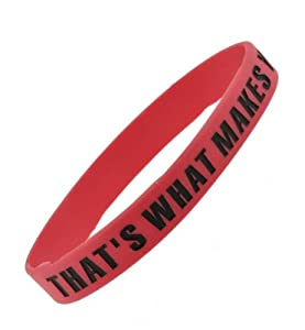 Pink One Direction Wristband Thats What Makes You Beautiful 05 Wide 26 by Hinky Imports