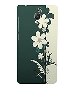 Back Cover for Redmi 1S GREEN FLORAL